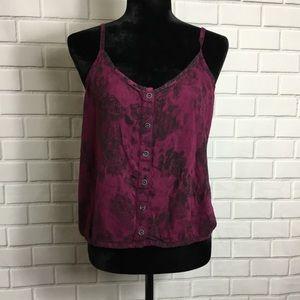 Women's spaghetti strap floral shirt